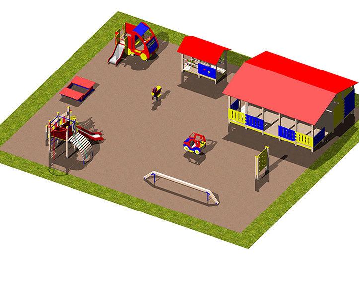 Игровая площадка «Автомобильная тема»
