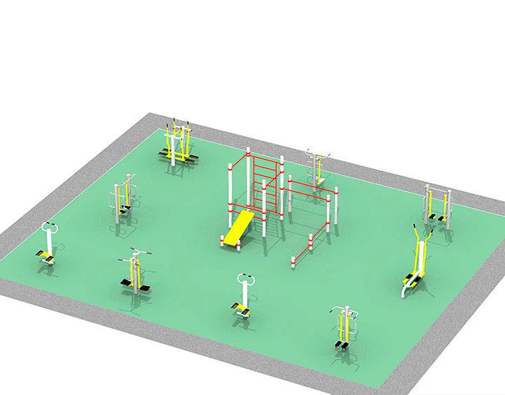Проект спортивной площадки с тренажерами