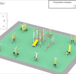 План спортивной площадки с тренажерами