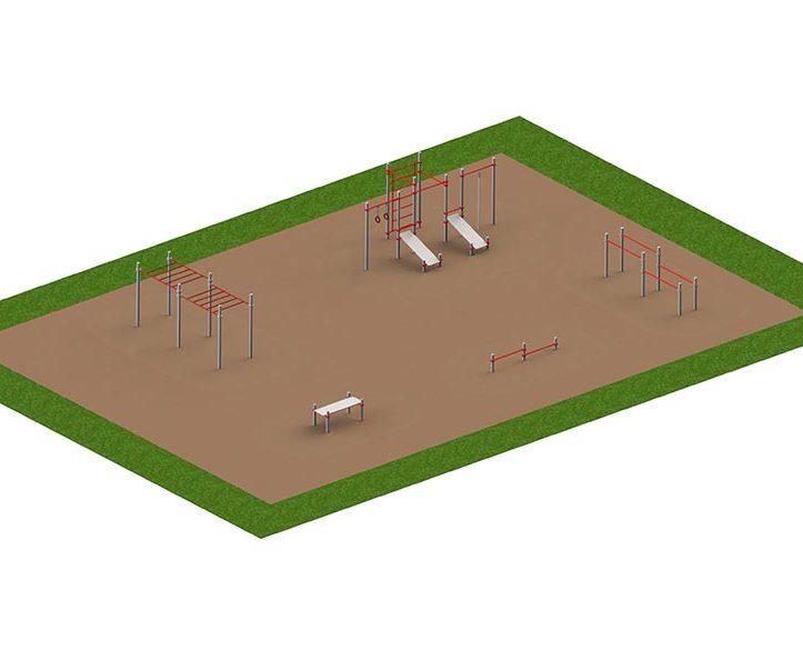 Спортивная площадка «Воркауты»