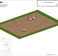 План спортивной площадки «Воркауты»