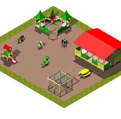 Спортивно-игровая площадка «Лесная опушка»