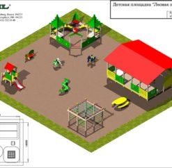 План спортивно-игровой площадки «Лесная опушка»